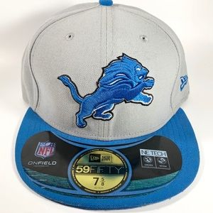 NEW ERA NFL Detroit Lions Fitted Cap Size 7-5/8""